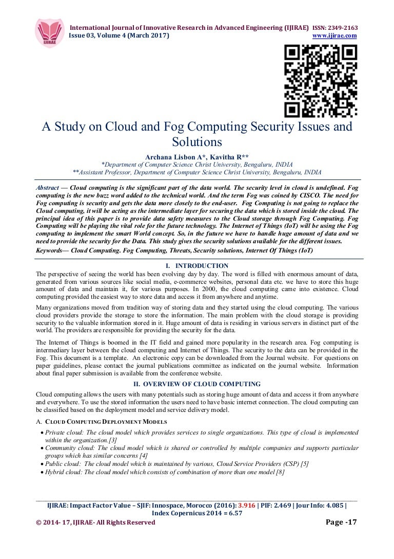 A Study On Cloud And Fog Computing Security Issues Solutions Data 03 170312165539 Thumbnail 4cb1489766001