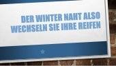 Der Winter naht also wechseln Sie Ihre Reifen