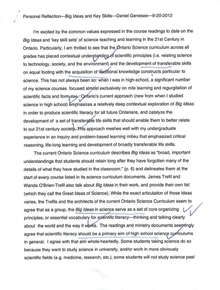Catcher In The Rye Essay Thesis  Writing A Proposal Essay also Short Essays In English Personal Reflectionbig Ideas And Key Skillsdaniel Genesee Analysis Essay Thesis
