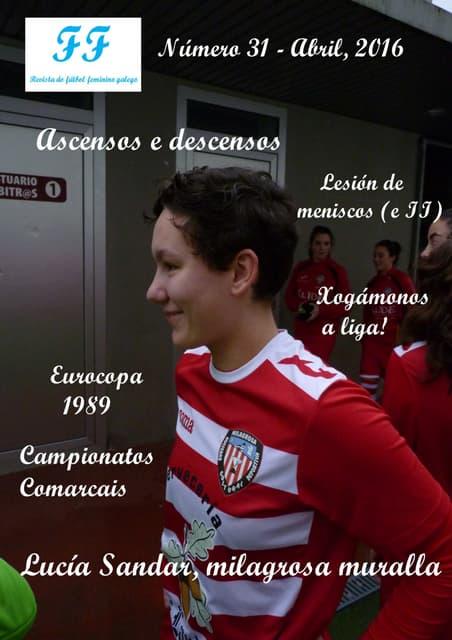 Revista FUTBOL FEMENINO abril 2016