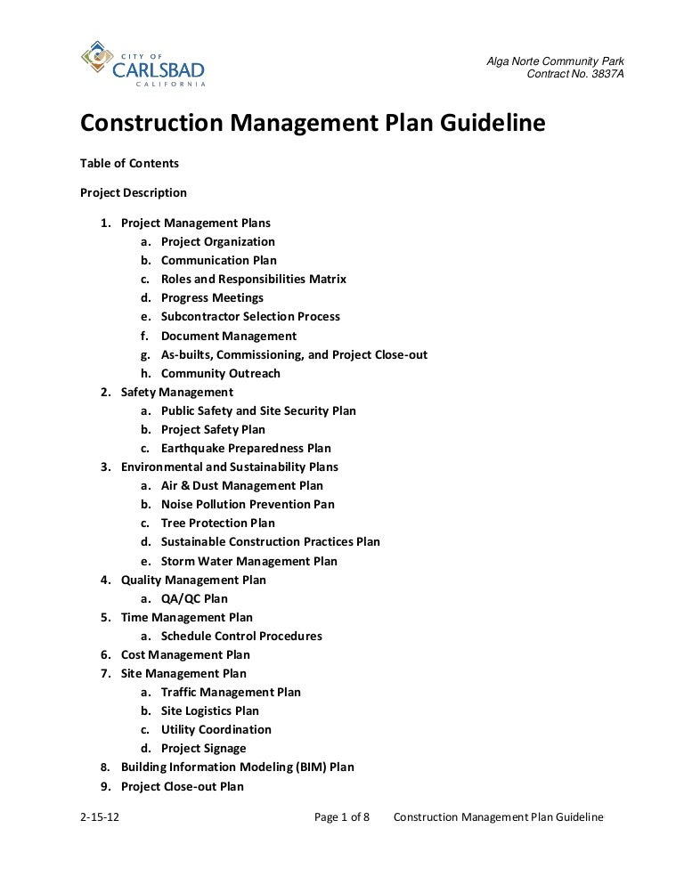Construction Management Plan Guideline 2 15 12
