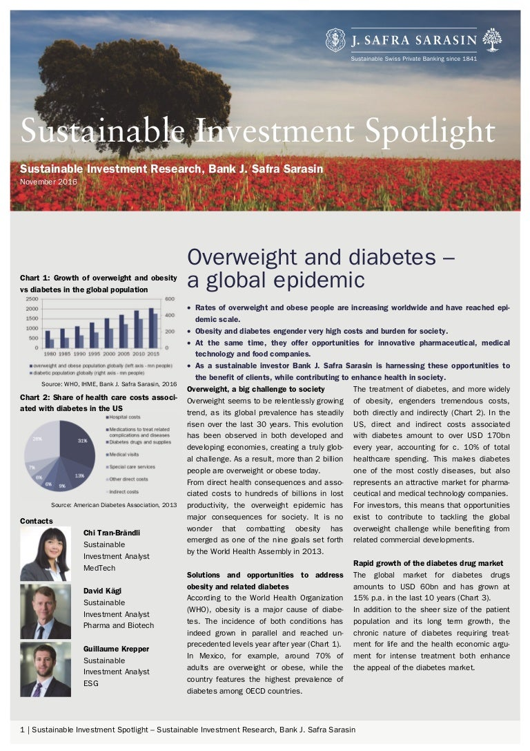 sustainable investment spotlight overweight and diabetes a global ep