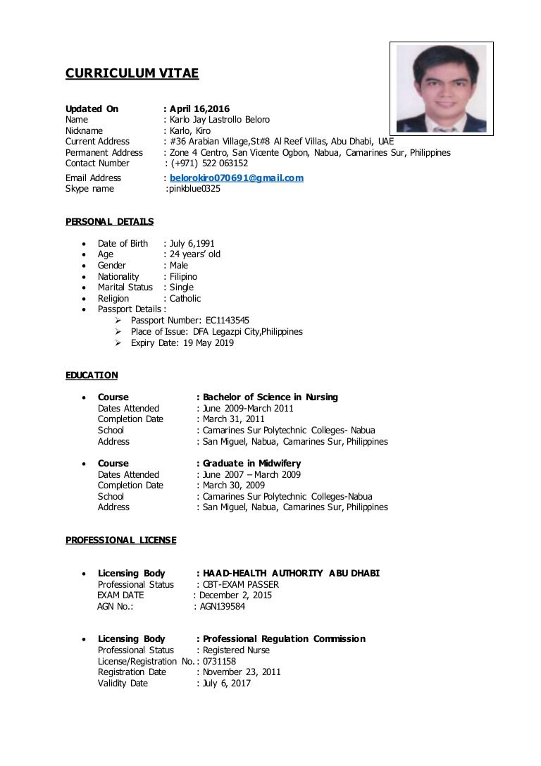 Resume Sample In The Philippines 5 Applicant Resume Sample