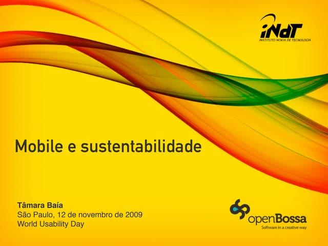 Mobile e sustentabilidade