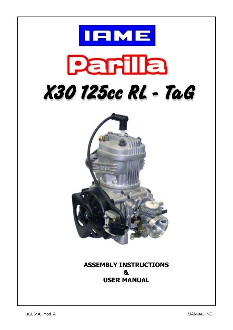 manual go kart parilla engine x30 eng rh slideshare net Diesel Engine Repair Manuals Deutz Engine Parts Manual