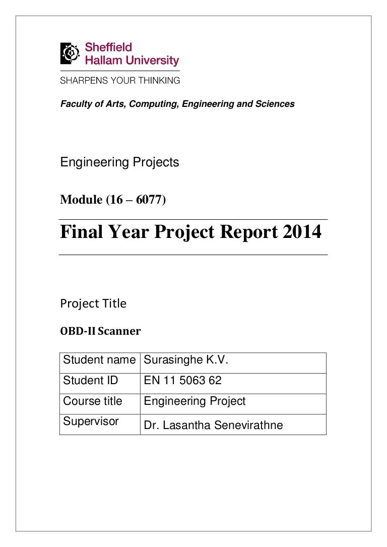OBD2 Scanner-Final Year Project Report