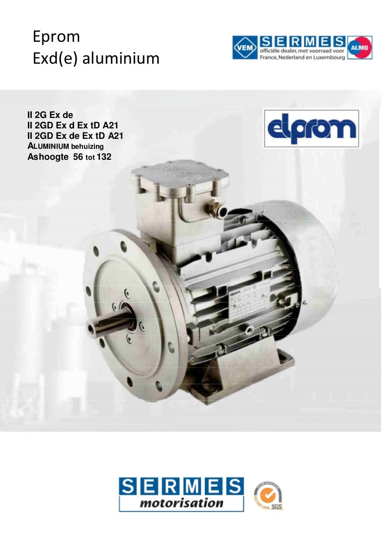 Elprom Explosion Motors Aluminium By Sermes Electric Internal Connection For 115 230 Motor Elctric