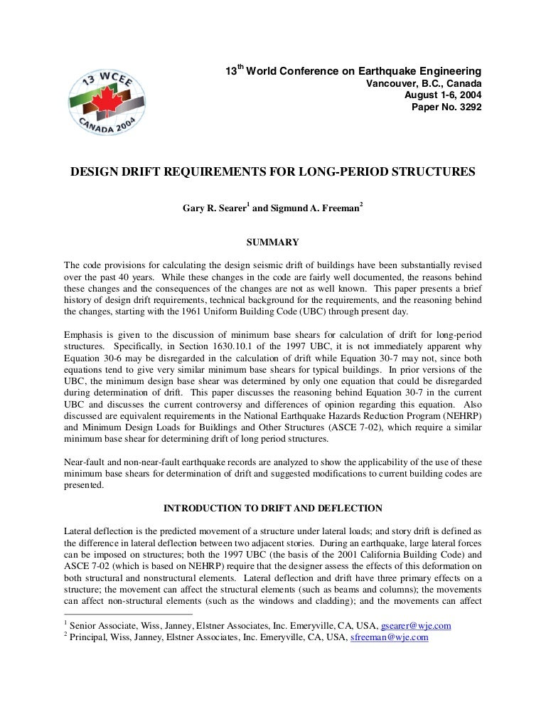 04 Drift Requirements Searer And Freeman Pdf