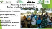 Restoring African Drylands Scaling: What insights from practice?