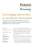 Purdue Fraunhofer Innovation Ecosystem White Paper | May 2015