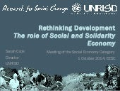 Rethinking Development - The role of Social and Solidarity Economy