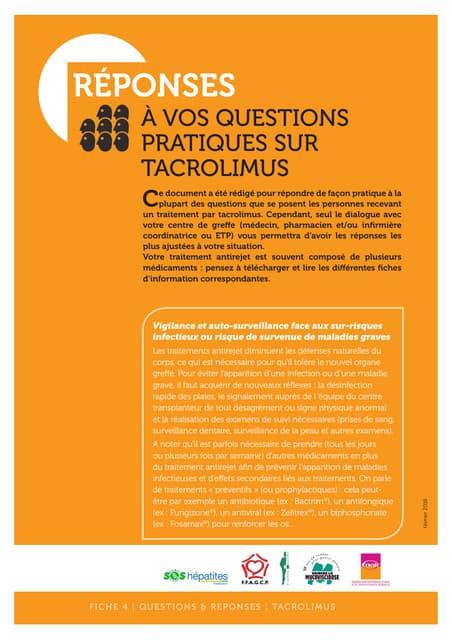 04 tacrolimus   questions réponses