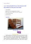 Special ! Stairway Bunk Bed Twin over Twin in Expresso with 3 Drawers Built in to the Steps and a Twin Trundle