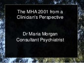 Maria Morgan: The Mental Health Act 2001 from a Clinician's Perspective