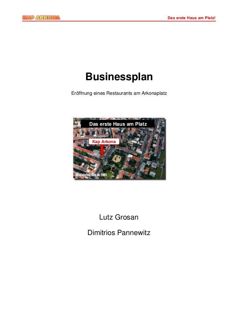Business Plan für ein Restaurant