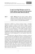 Fusing Knowledge Management into the Public Sector: a Review of the Field and the Case of the Emirates Identity Authority (51)