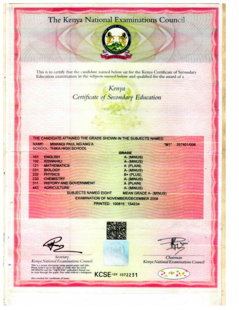 KCSE paul PDF