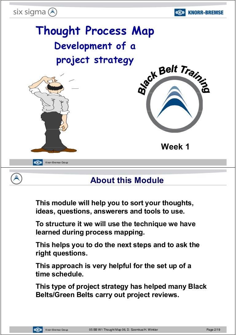 Javier Garcia Verdugo Sanchez Six Sigma Training W1 Thought Pro Process Flow Diagram