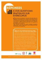 05 ÉVÉROLIMUS : QUESTIONS/REPONSES