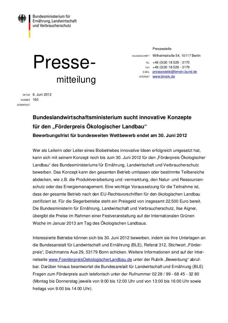 06 160 frderpreis kolandbau bewerbungsendepdf - Bewerbung Ende