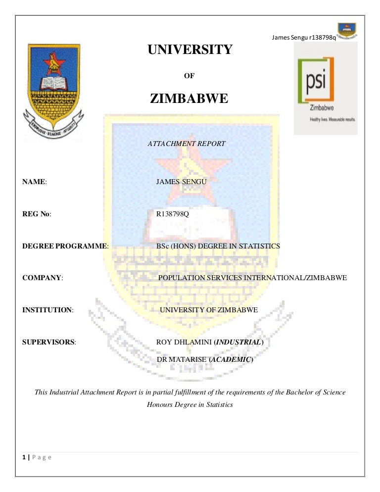 industrial attachment report This attachment report is my original work which has not been presented to any other examination body no part of this report should be reproduced without my consent or that of the kenya institute of management.