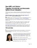 How HPE and Docker Together Accelerate and Automate Hybrid Cloud Adoption