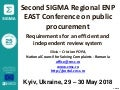 Presentation by Silviu-Cristian Popa, Romania (ENG) Second SIGMA Regional ENP East Conference on Public Procurement, Kyiv 29-30 May 2018