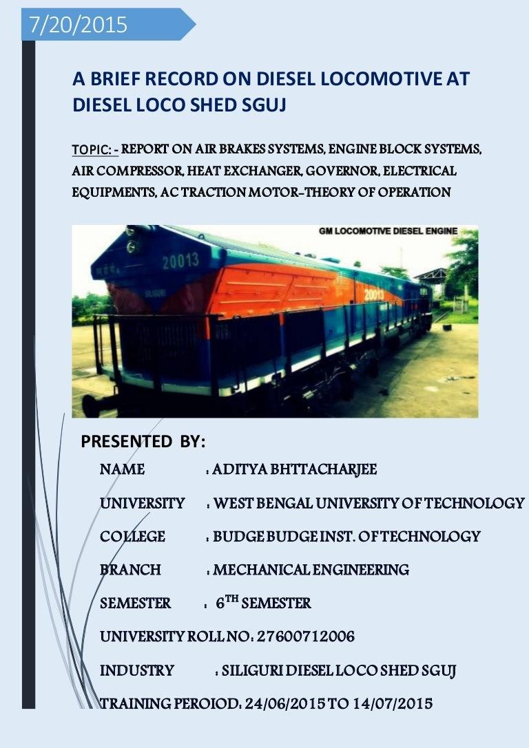 Wdp4 manual array project report trainee engineer at diesel locomotive shed indian ra u2026 rh slideshare fandeluxe Gallery