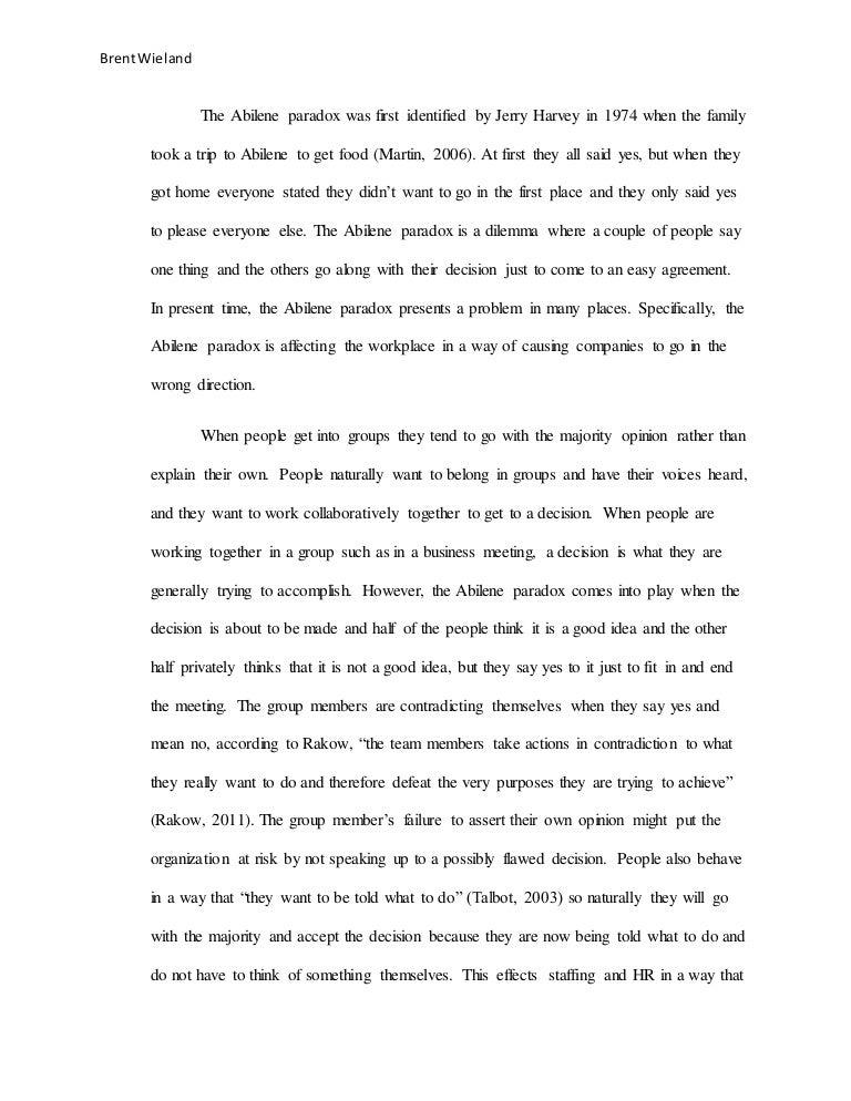 abilene paradox essay