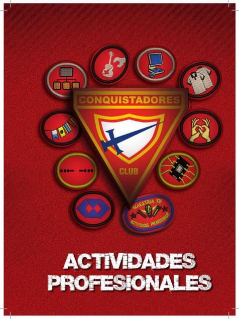 06 Especialidades de Actividades Profesionales   Club de Conquistadores