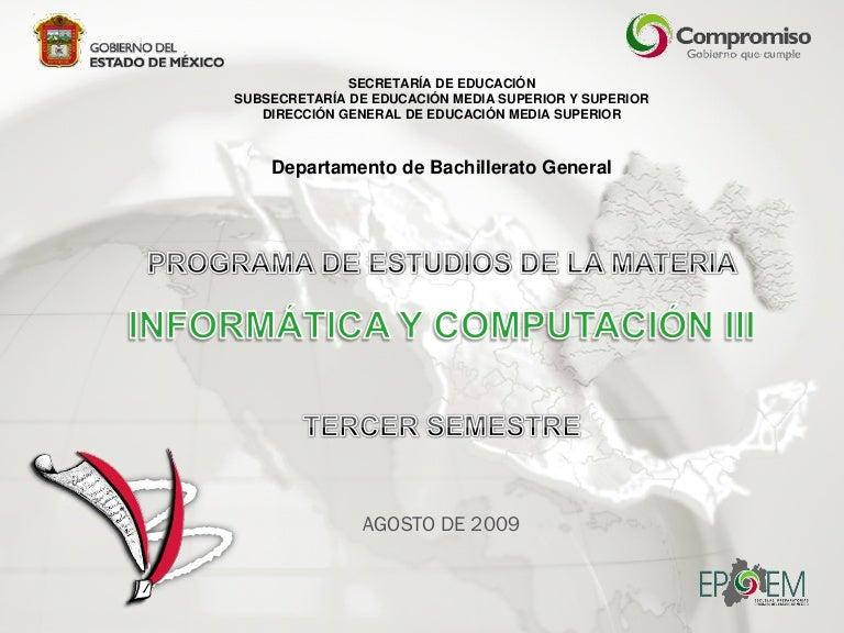Informatica y Computacion III