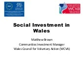 Social investment in Wales