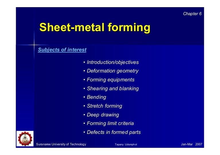 06 Sheet Metal Forming