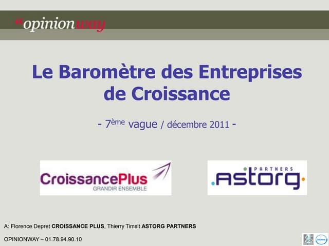 7ème baromètre Croissanceplus - Astorg partners