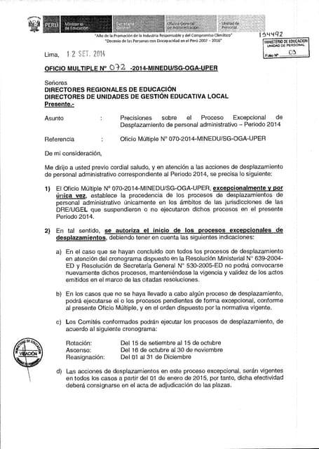 072 precisiones sobre el proceso excepcional de desplazamiento de personal  ad 1