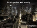 Chapter 8 - Participation and Voting