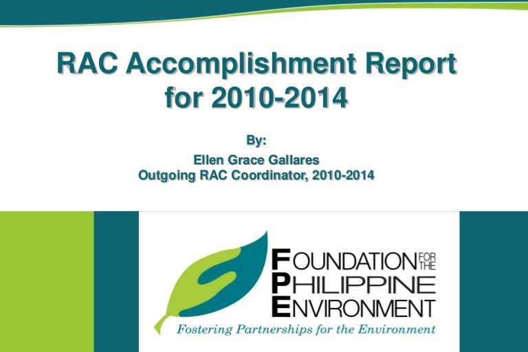 Fpe Rac Accomplishment Report 2010-2014