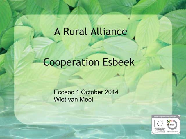A rural alliance - Cooperation Esbeek