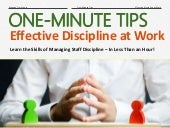 One-Minute Tips: Effective Discipline