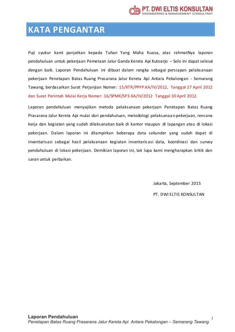 Draft Laporan Pendahuluan Pekerjaan Penetapan Batas Ruang Perkeretaap Stature Meter Alat Pengukur Tinggi Badan