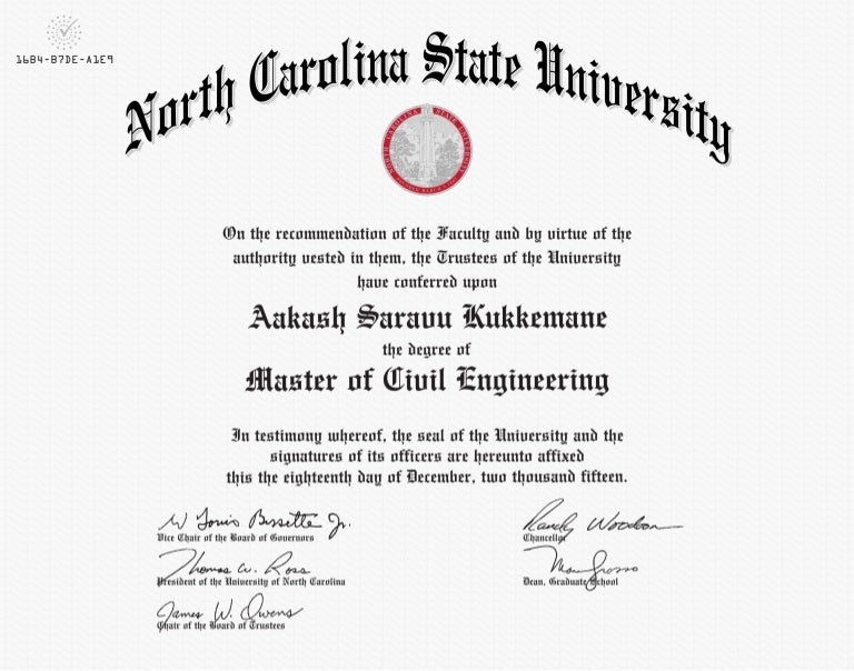 Master Of Civil Engineering Certificate - Free high school diploma template with seal