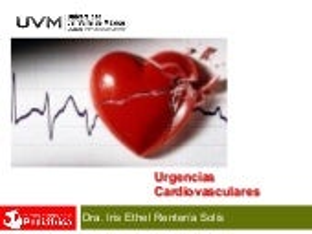 UVM Emergencias Médicas Básicas Sesión 08 Urgencias Cardiovasculares