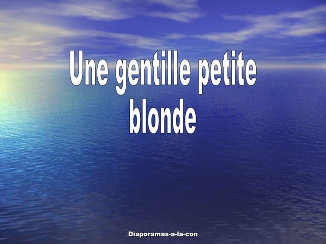 09 Une Blonde A Lecole