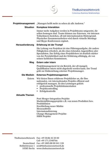 Projektmanagement deutsch