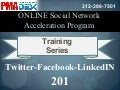 ONLINE Social Network Acceleration Program - Twitter - Facebook - LinkedIN 201