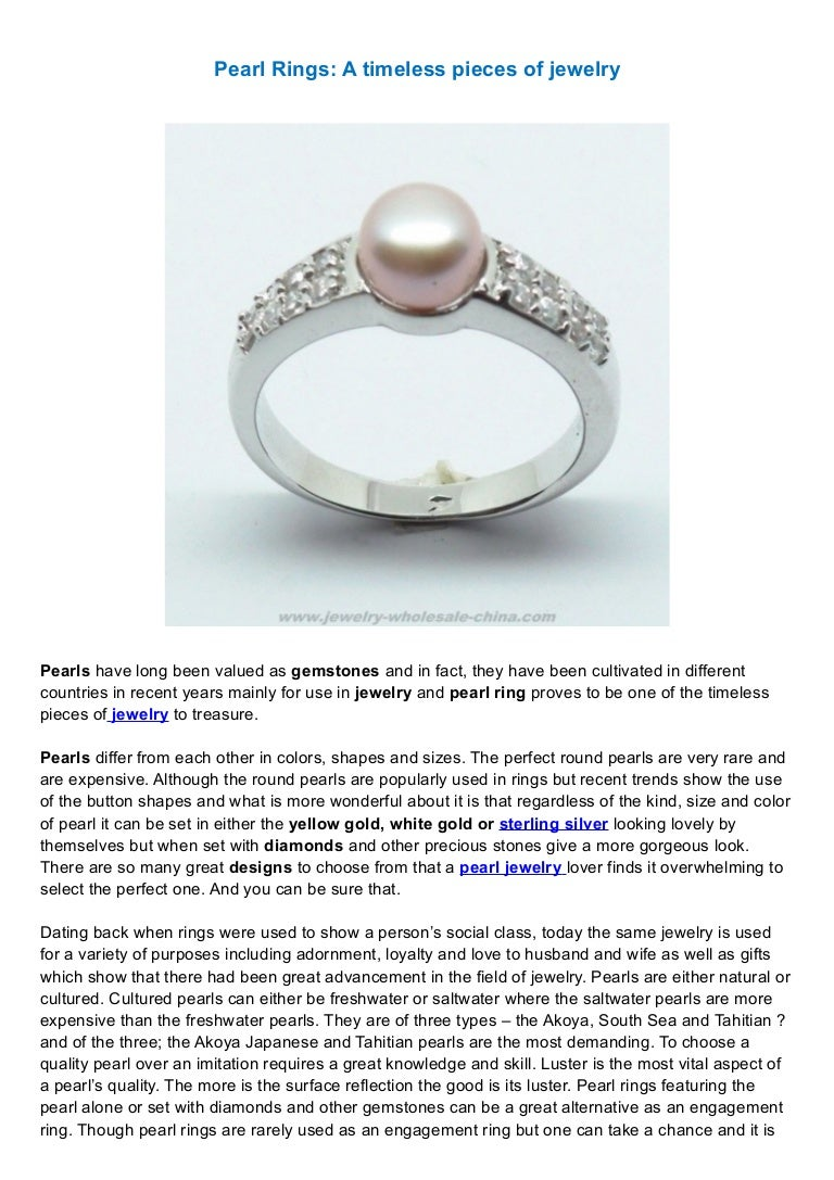 0914 pearl rings a timeless pieces of jewelry