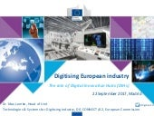 DIGITISING EUROPEAN INDUSTRY: THE ROLE OF DIGITAL INNOVATION HUBS