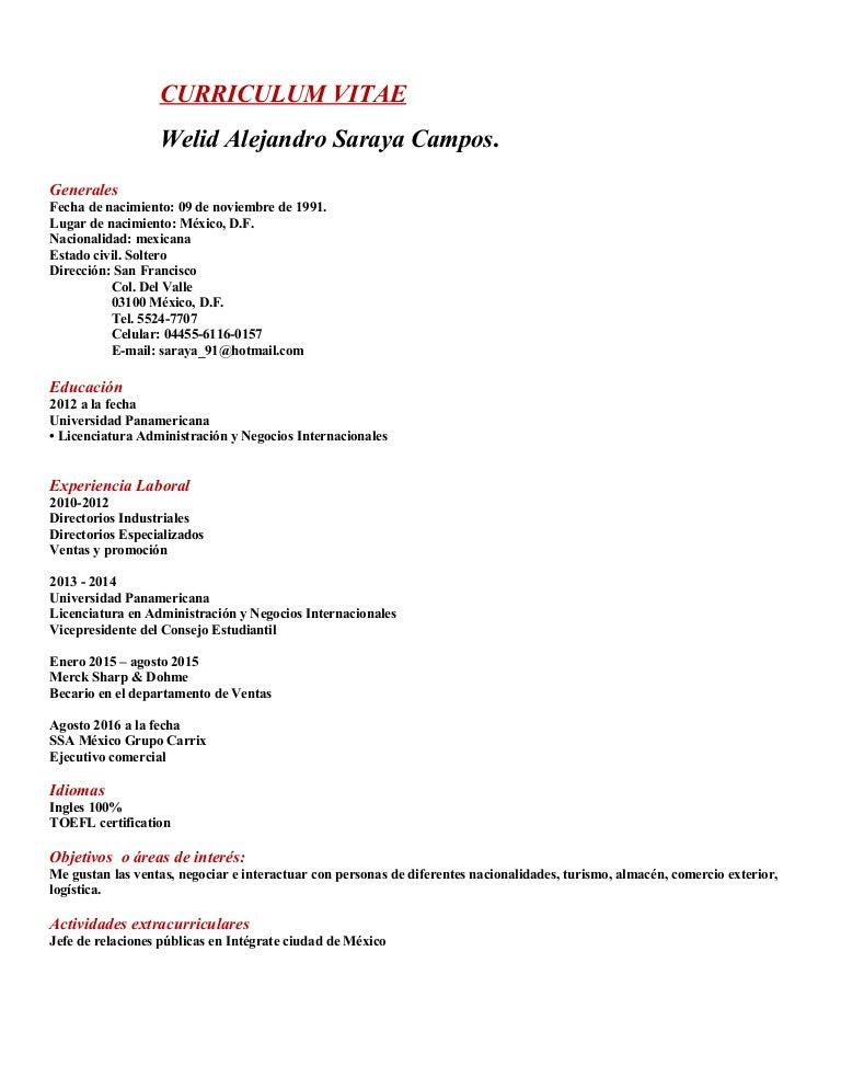 Curriculum Welid Saraya 2016