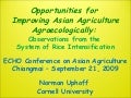 0955 Opportunities for Improving Asian Agriculture Agroecology: Observations from the System of Rice Intensificatiion