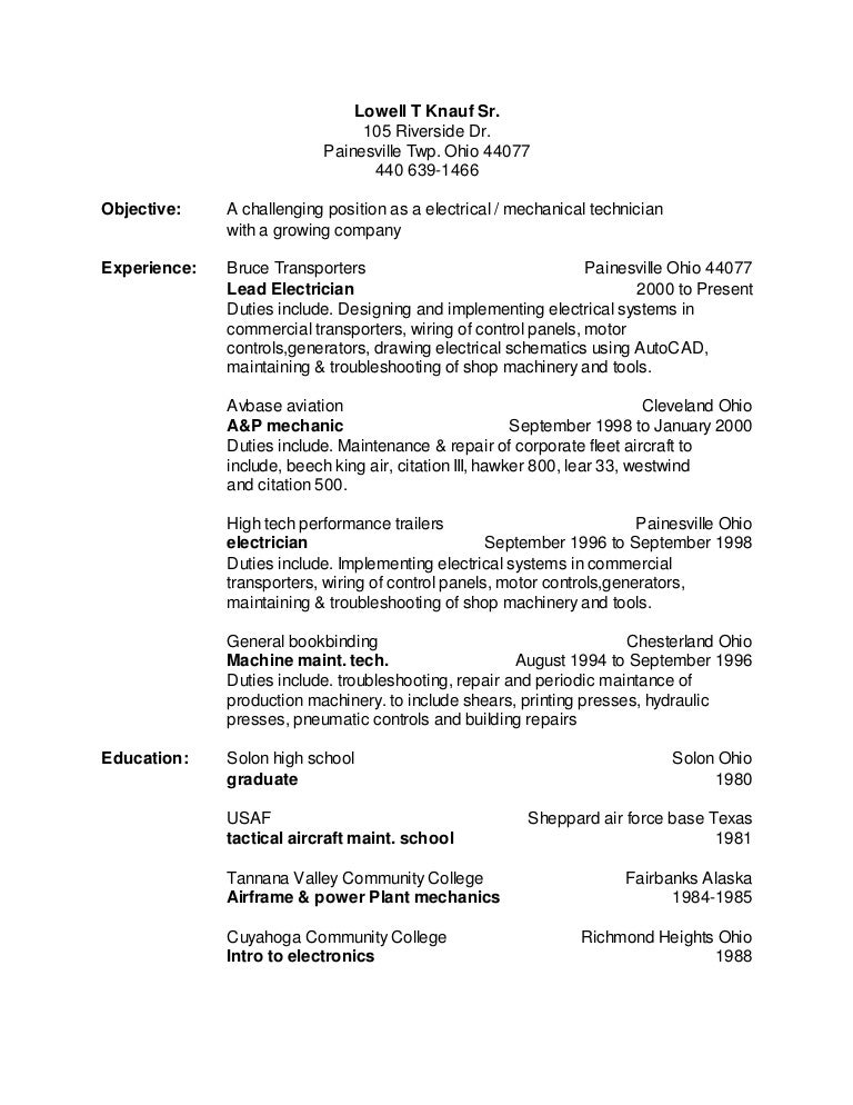 toms resume 2016